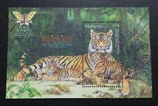 2013 Malaysia Endangered Animal Big Cats Tiger Wildlife Overprint MS Mini-sheet
