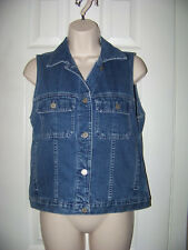 **EDDIE BAUER** Original Women's Denim Vest Size  ((XS)) 100% Cotton. EUC.