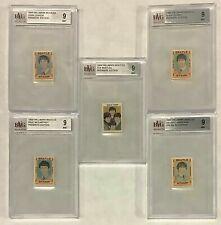1964 Hallmark BEATLES Premiere Edition Stamp Set Graded BVG 9 Lot of 5