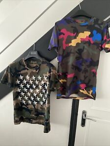 2 X Mens Valentino Camo T Shirts Size Small