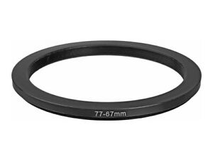 77-67mm Metal Step down Ring Lens Adapter 77 to 67 Filter Thread - UK SELLER