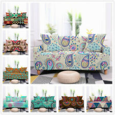 1 2 3 4 Seater Sofa Covers Printing Furniture Protector Polyester Stretch Fabric