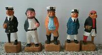 "Hand Carved Sailor Crew Sea Captain Fisherman Ship Wooden Nautical Figurine 4""+"