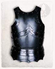 Black LARP 18GA Steel Medieval Knight BALTHASAR TORSO ARMOR Cuirass Breastplate