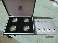 More details for 2004 royal mint heraldic beasts pattern set silver proof £1 x 4 coin set box.#67