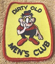 "VINTAGE PATCHES--DIRTY OLD MEN'S CLUB--3""--YELLOW TRIM--PATCH--NEW-FREE SHIPPING"