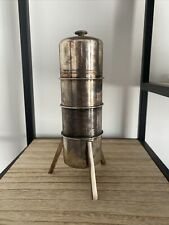 RARE MOULIN A POIVRE Café Model Reduit De Fermenteur USINE PFIZER Metal Argenté