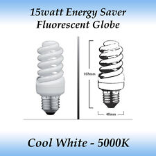 10 x 15 watt Energy Saver Fluorescent Globe Cool White