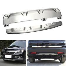 Front+Rear Bumper Board Guards Board Protect Cover Trim For Honda CR-V 2012-2014