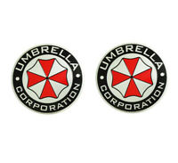 2x Umbrella Corpoeration rund Auto Logo Emblem Badge Aufkleber KFZ Car Sticker