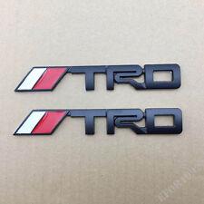 2X BLACK T.R.D TRUNK BADGE ABS Emblem Badge Sticker fit all cars jdm