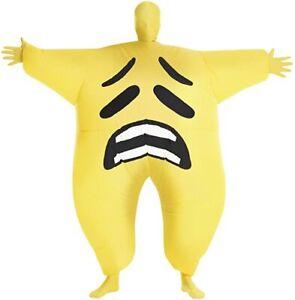 Joy Sad or Cheeky Emoji Face Emoticon Inflatable Megamorph Blow Up Kids Costume