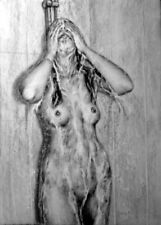 umgiquemou bath nude, draw on charcoal, A3 paper