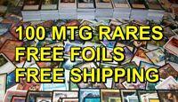 100x MTG Rares ONLY NO DUPES + FREE FOILS EDH Magic the gathering lot