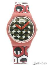 New Swatch Originals Swaiti Red Multicolor Silicone Watch 34mm GR163 $60