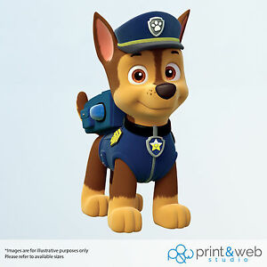Paw Patrol Wall Decal Sticker Bedroom Vinyl Kids Chase