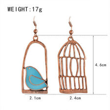 Jewelry Dangle Lovely Trendy Fashion Bird Cage Asymmetric Earrings Vintage