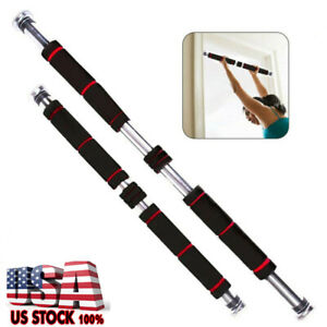 Adjustable Doorway Pull Up Bar Fitness Chin Up Home Gym Exercise Tool Strength