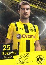 Sokratis (25) + Borussia Dortmund + Saison 2016/2017 + Autogrammkarte