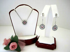 "Brighton ""ILLUMINA"" Pink Necklace-Earring Set (MSR$126) NWT/Pouch"