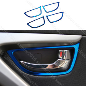 for HYUNDAI Elantra 2011-2016 blue Stainless Interior Door Handle Frame Cover