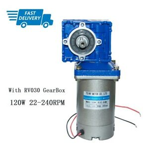 120 Watt 12/24/90V DC Worm Gear Motor with NMRV030 Gearbox Speed Reducer