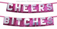 Cheers Bitches Sparkle Lettering Foil Banner Hen Night Party Birthday Decoration