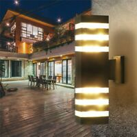 2pcs Modern LED Wall Light Up Down Cuboid Outdoor Sconce Lighting Lamp Fixture
