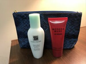 Lot Of 3 Estee Lauder Take It Away Remover, Modern Muse, & Makeup Cosmetic Bag