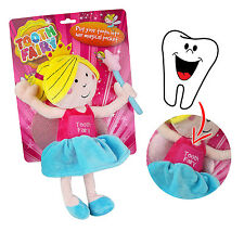 Baby Teeth Tooth Fairy Pillow Doll Bed Magical Pocket Soft Plush Kids Safe Play