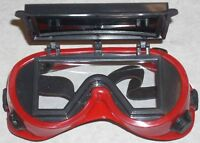 10 Red Welding Safety Goggles Flip Up 2x4 1/4 Shade 5
