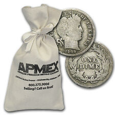 90% Silver Barber Dimes $100 Face-Value Bag - SKU #50275