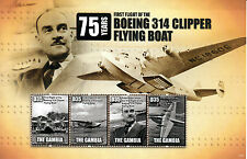 Gambia 2013 MNH Boeing 314 Clipper Flying Boat First Flight 4v M/S Aviation