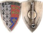 19° Division d'Infanterie, émail, dos lisse gravé, A.B.(1033) (4895)