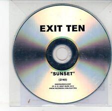 (DV306) Exit Ten, Sunset - 2012 DJ CD