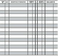 10 EASY TO READ CHECKBOOK TRANSACTION REGISTER LARGE PRINT CHECK BOOK REGISTERS