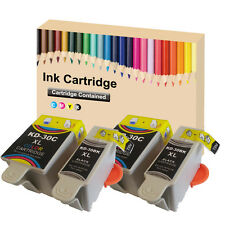 4 Ink Cartridges for  Kodak 30 XL Black & Colour  for ESP C110 C310 C315 Printer
