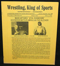 Wrestling, King of Sports Program - Abdullah vs. Super Destroyer - 7/7/1977