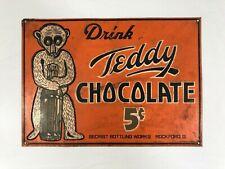 Teddy Chocolate Vintage Sign Rockford Ohio