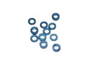 Team Associated B64D 4wd Buggy Blue Aluminum Ball Stud Thin Shims