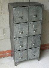 Armadietto in metallo con 8 archiviazione Disegna Stile Retrò Vintage Arredamento Industriale