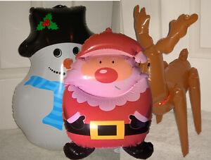 Christmas inflatable figures Snowman Santa Claus Reindeer xmas decor blow up toy