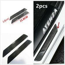 2× 25.8cm Carbon Fiber Car Door Sill Scuff Plate Moulding Trim Protector Covers