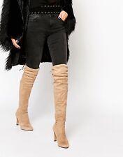 Carvela  Sammy Over The Knee Boot Taupe UK 4 Brand New