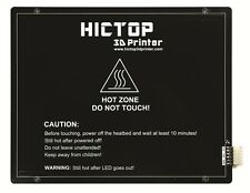 HICTOP Aluminum Heated Bed for 3D printer Ramps 220*275 *3 mm 24V 200W+Wire