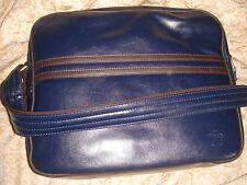 milano navy retro vintage style shoulder work bag with pockets vinyl brand new
