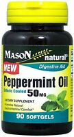 Mason Natural Peppermint Oil Enteric Coated Soft Gels, 50MG 90 ea (Pack of 2)