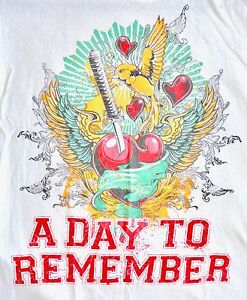 A Day To Remember (BAND) Samurai Sword Heart T-Shirt - SMALL - Music Rock
