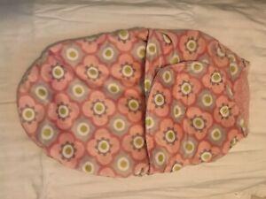 Blankets And Beyond Baby Girl Swaddle Bag Blanket Pink Gray Flower Velvety Soft