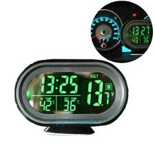 Car Voltage Digital Monitor Battery Alarm Clock LCD Temperature Thermometer